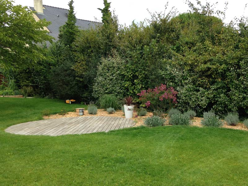 Terrasse Robinier Entretien : Terrasse bois ronde Couleur Jardin