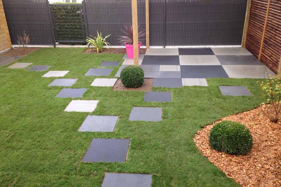 Terrasse pixels couleur jardin - Dalle jardin terrasse ...