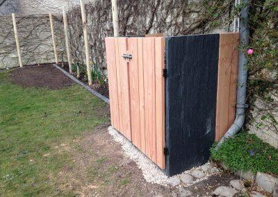 cache poubelles bois ardoise couleur jardin. Black Bedroom Furniture Sets. Home Design Ideas