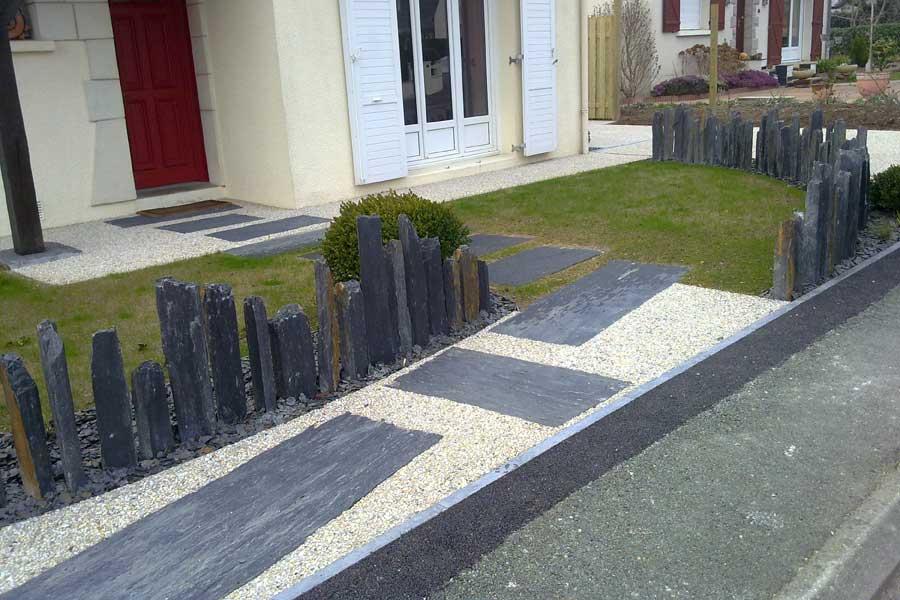 piquets d 39 ardoise couleur jardin. Black Bedroom Furniture Sets. Home Design Ideas