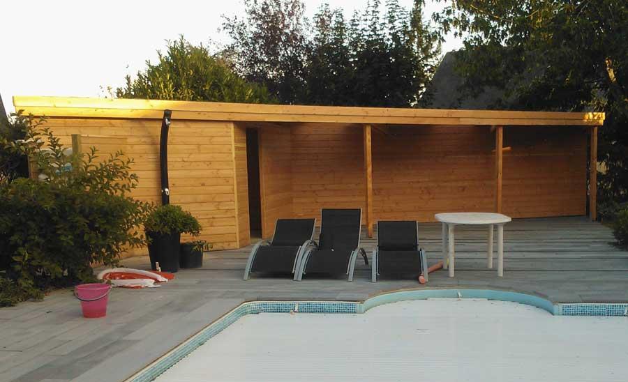 pratique l 39 abri sur mesure de la piscine couleur jardin. Black Bedroom Furniture Sets. Home Design Ideas