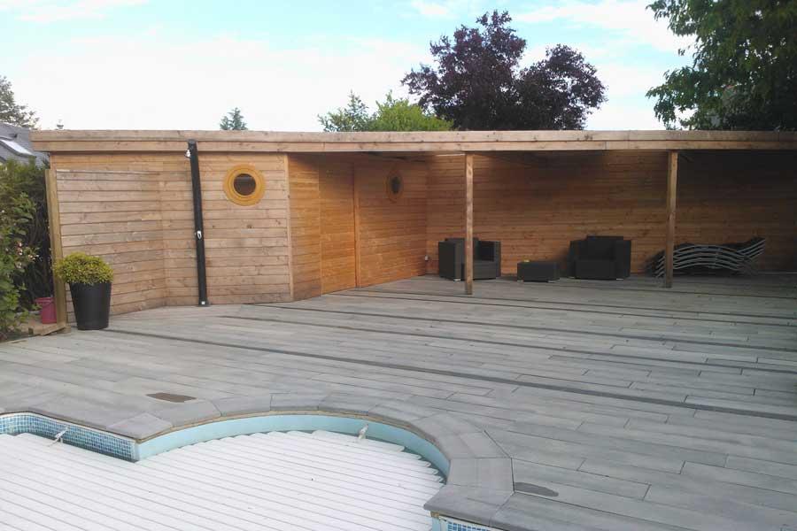 Pratique l 39 abri sur mesure de la piscine couleur jardin for Abri piscine sur mesure