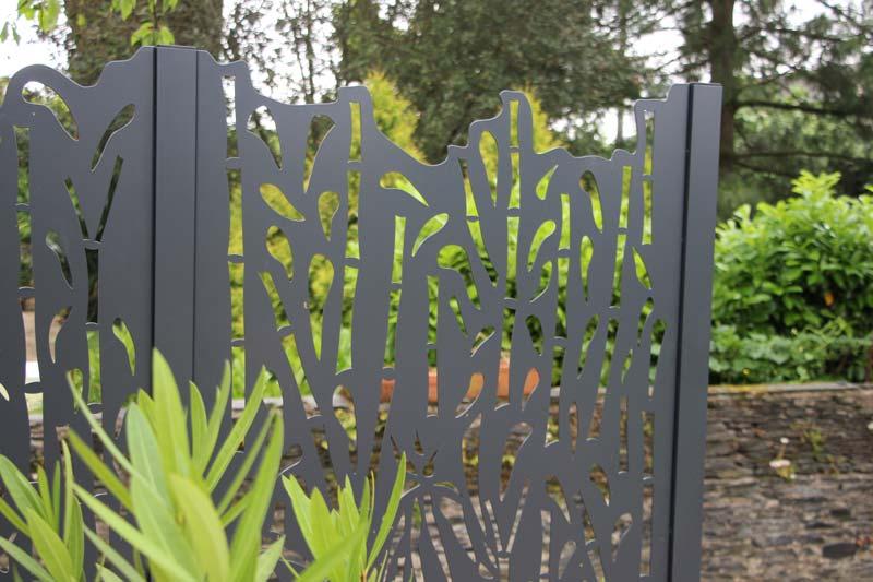 Panneaux alu couleur jardin for Claustra alu prix