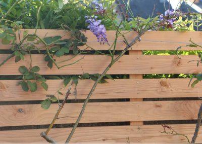 Palissade en planches horizontales