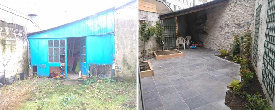 Une petite cour reprend vie couleur jardin - Amenagement petite cour exterieure ...