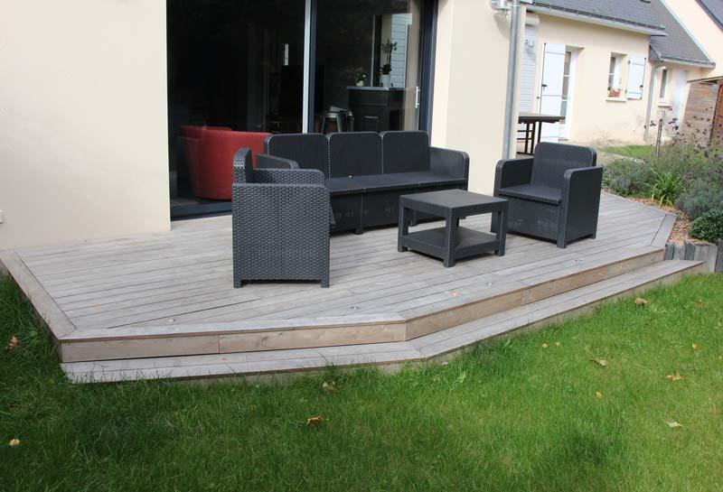 Terrasse Robinier Acacia : Terrasses en acacia Couleur Jardin