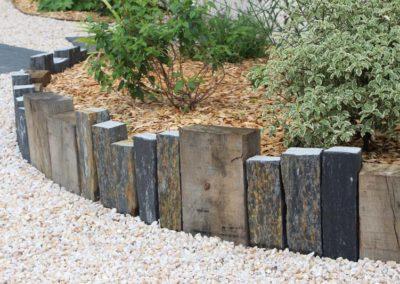 bordures pierre et bois
