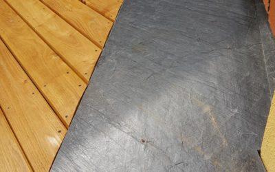 Terrasse en robinier, acacia et ardoise